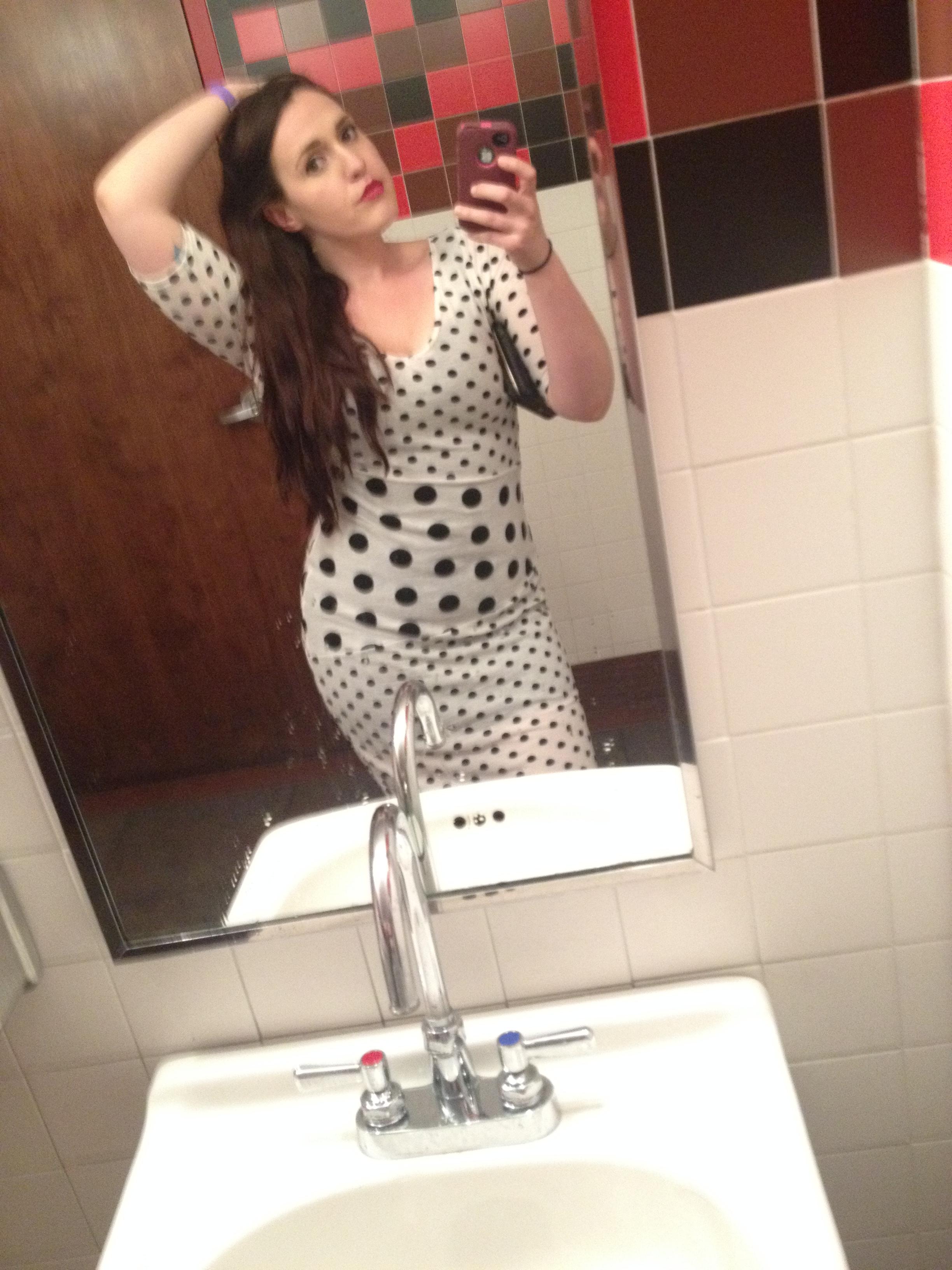"Busty Teen self photo Bonus Bonus Shot: ""Too Many Martinis, Bathroom Selfie Edition"""